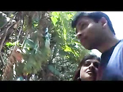 indian couple on honeymoon getting naughty in park