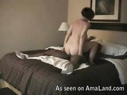 Curvy cheating wife rides her black boyfriend to climax