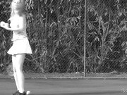 ariel taylor vixen in tennis courting