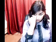 chubby desi girl stripping and dancing on cam