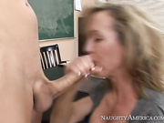 Professor Brandi Love is excited because her student aced his latest exam