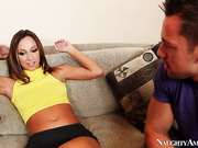 Jada Stevens just got back from playing some basketball with her boyfriend's son, Johnny