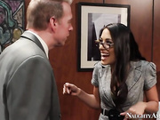 Lyla Storm is a hot brunette secretary