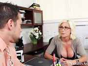 Johnny's interviewing for a secretarial job with Puma Swede, but he quickly learns that she asks very unconventional interview questions