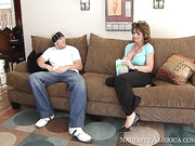 Deauxma catches her son's friend sticking his dick in a sandwich