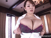 Big tit Asian gets down stroking cock with tits and rides it