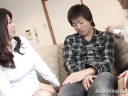 Appealing Asian divas take pleasure giving a sensual blowie
