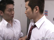 Being a young female Japanese teacher in a horny boys school can be fun