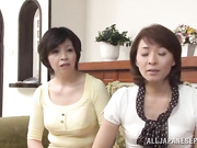 Japanese mom gets spied on as she takes a sensual shower
