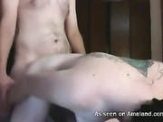 Peachy tits emo bitch gets fucked from behind in amateur video