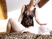 Put two busty girls in a secluded attic bedroom on a leopard print bedspread, and what do you get?