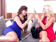What do you get when two over sexed Hungarian Honeys decide to play show and tell with their new toys?
