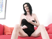 Skinny amateur milf wants a big stiff cock now!