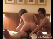 lesbo hacked two brunettes pleasure lucky guy