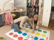Everyone knows that playing Twister turns most good girls into real love dolls, but if you've got both Twister and some kinky sex toy then your chances of fucking the girl are a hundred to one