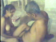 Amateur Indian couple at home having missionary sex