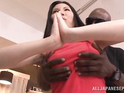 Sophia Takigawa is a hot milf in amazing group action with an mmf interracial threesome