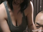 This hot housewife is a Japanese AV Model spending some time with her hubby