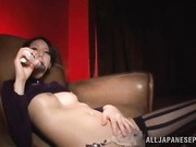 Lovely and horny Asian milf Yuuki Itano is enjoying some solo time with her sexy oiled body and her dildo