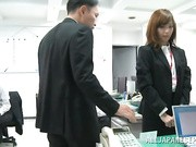 Miyuki Yokoyama is a naughty Asian office lady getting more than her share of attention today