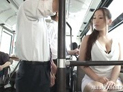 Sayuki Kanno is a hot Asian milf riding the public bus
