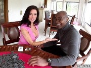 The hot milf Veronica Avluv comes by to try and handle a monster cock
