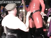 Kinky Carmen is invited to every BDSM party around the world