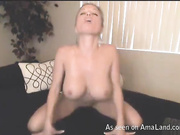 owm blonde webcam tease nude shaven snatch big tits