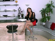 Hot female boss rides her employees raw rod.