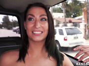 Lunch Lady Gets Fucked on The BangBus And Ditched!