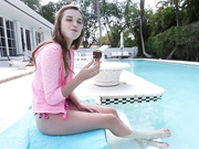 Barely Legal Petite Cutie Drilled By The Pool