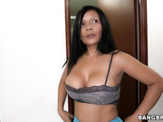 Latina MILF cleans and then fucked