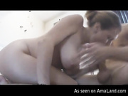 pov oral jizz busty amateur sucks swallows home