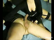 Spicy blonde honey takes pleasure giving a sensational head