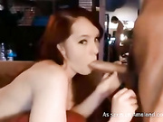 oral redhead wc babe sucks bf big cock on cam