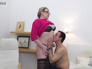 Horny mature lady doing her toy boy hard and long