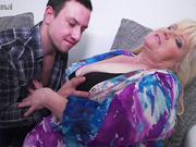 Mature BBW fooling around with her toy boy