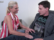 Super hot German housewife Dirty Tina fucking and sucking