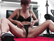 Hairy housewife masturbating and getting wet