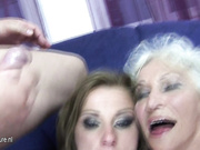 One dude fucking a mature slut and a MILF