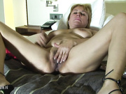 Horny mature slut playing and getting wet