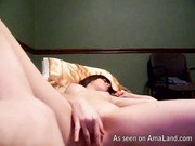 self shot brun hottie masturbating on cam shaved