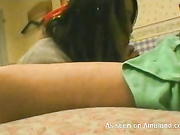 cute japanese chick pov blowjob and cum schoolgirl uni
