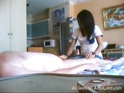 Thai masseuse in his hotel room blows the white guy