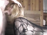blonde wife sucking gets fucked from behind