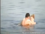 amateur couple fucking in the lake