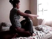 ebony black couple afternoon sex at home hot